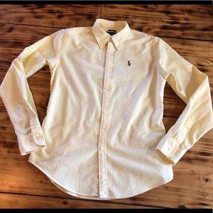 Ralph Lauren classic button up slim fit yellow